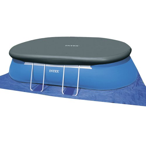 Intex 18ft x 10ft x 42in oval frame pool set endurro for Intex ovale